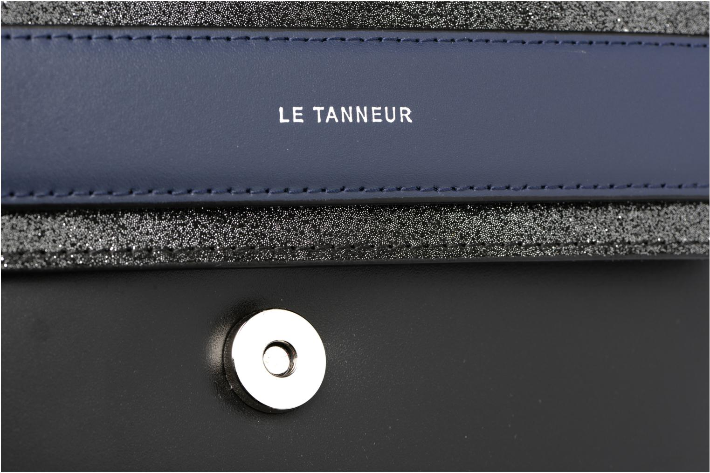 Sacs à main Le Tanneur Porté croisé Coquette TPM 3 soufflets glitter anti RFID Noir vue gauche