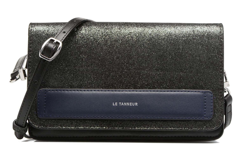 Sacs à main Le Tanneur Porté croisé Coquette TPM 3 soufflets glitter anti RFID Noir vue détail/paire