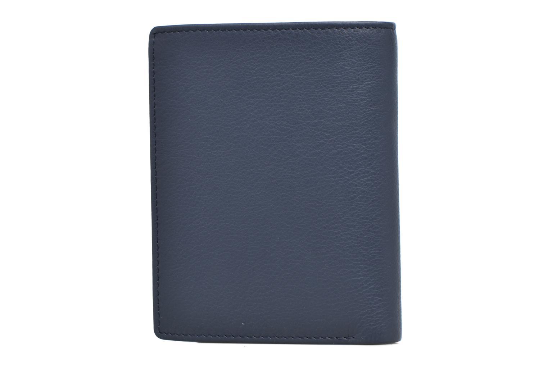 Portefeuille billets Mrs cc monnaie zippé 4 volets Bleu