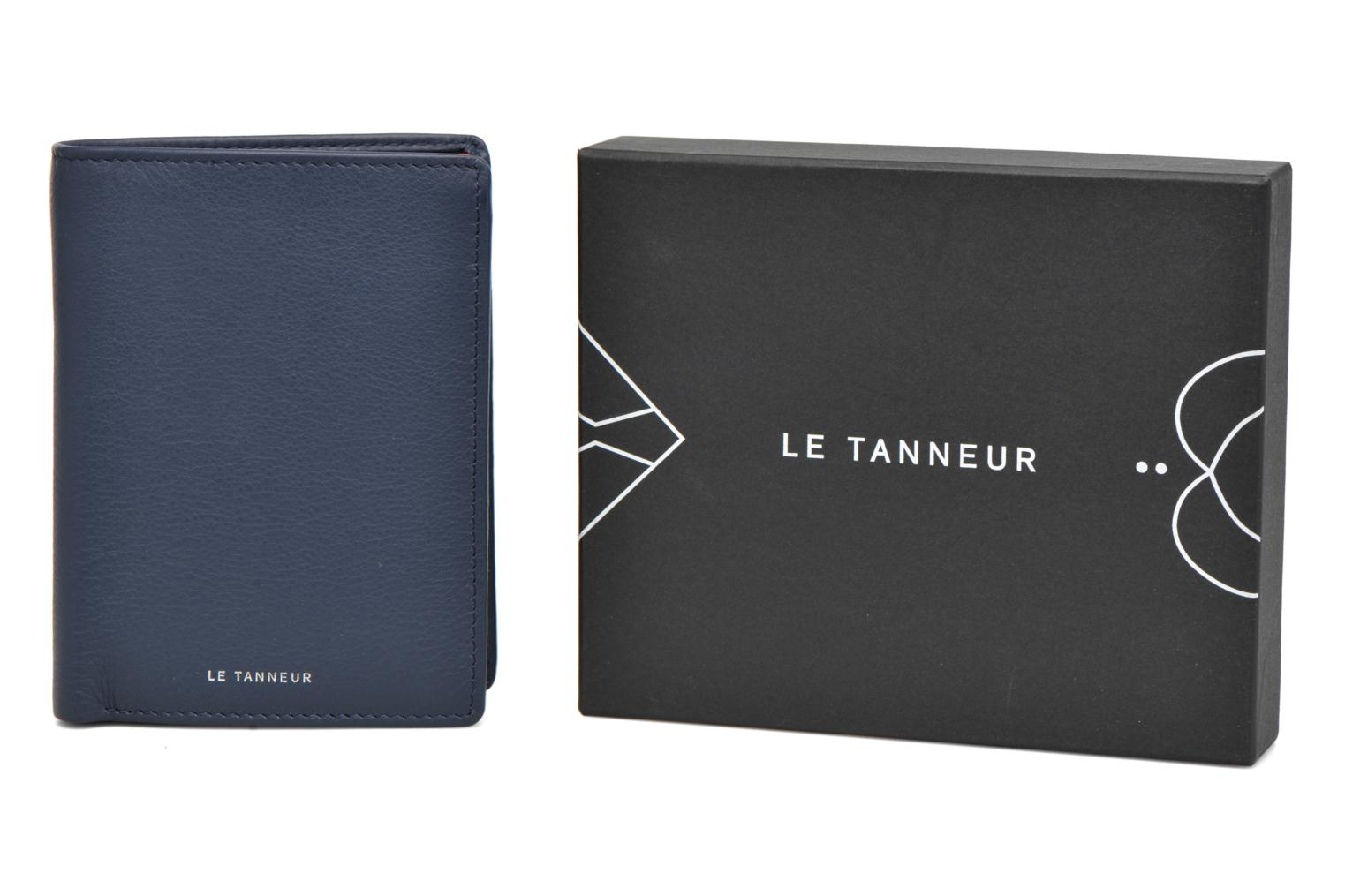 Wallets & cases Le Tanneur Portefeuille billets Mrs cc monnaie zippé 4 volets Blue back view
