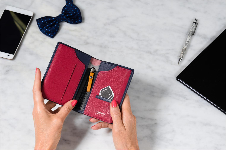 Wallets & cases Le Tanneur Portefeuille billets Mrs cc monnaie zippé 4 volets Blue view from above