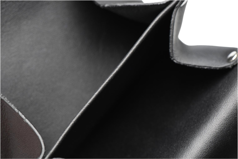 Petite Maroquinerie Le Tanneur Porte monnaie Magic Mirror sans couture 3 soufflets Noir vue derrière