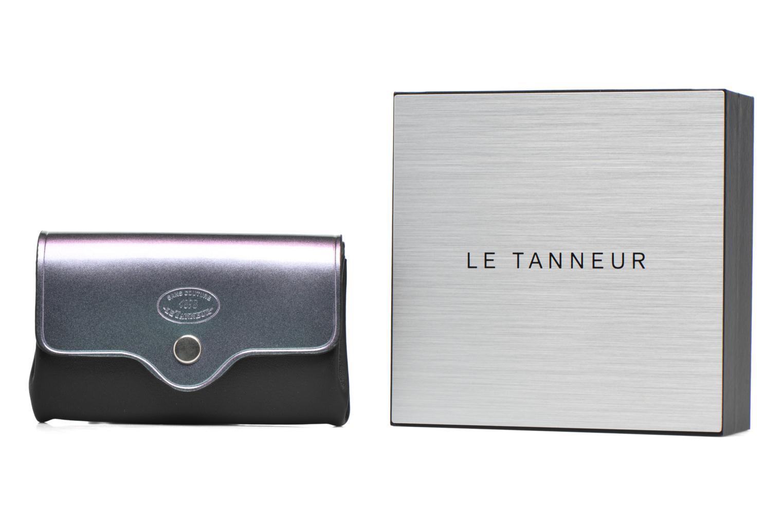 Petite Maroquinerie Le Tanneur Porte monnaie Magic Mirror sans couture 3 soufflets Noir vue détail/paire