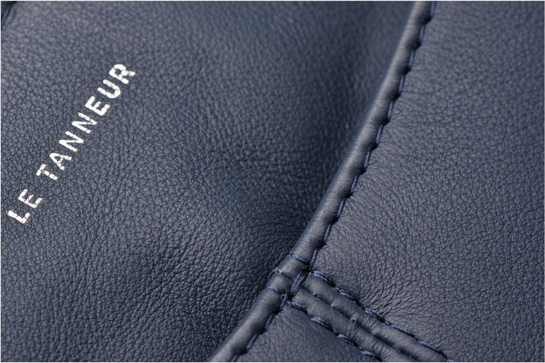 Pochette double zippée Valentine Bleu