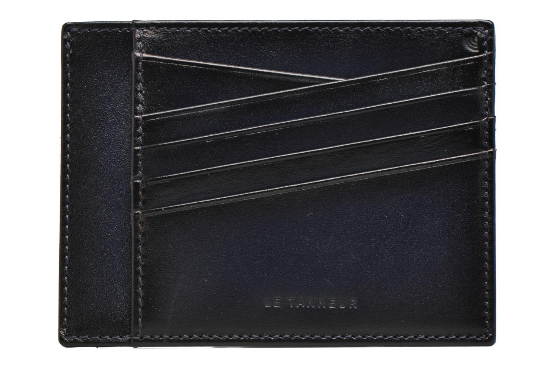 Pelletteria Le Tanneur Porte papiers Corentin 4 poches 5cc anti RFID Azzurro modello indossato