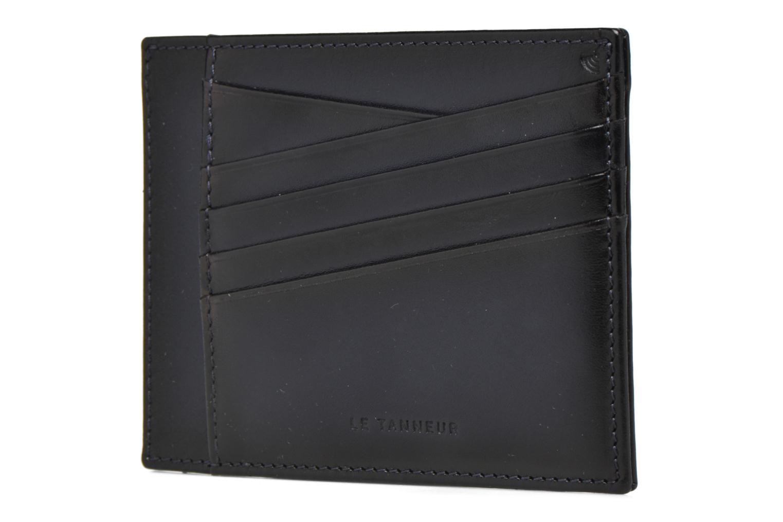 Petite Maroquinerie Le Tanneur Porte papiers Corentin 4 poches 5cc anti RFID Bleu vue face