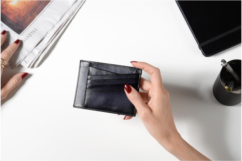 Petite Maroquinerie Le Tanneur Porte papiers Corentin 4 poches 5cc anti RFID Bleu vue haut