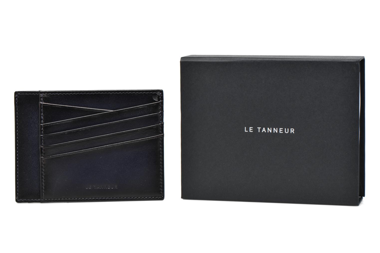 Petite Maroquinerie Le Tanneur Porte papiers Corentin 4 poches 5cc anti RFID Bleu vue détail/paire