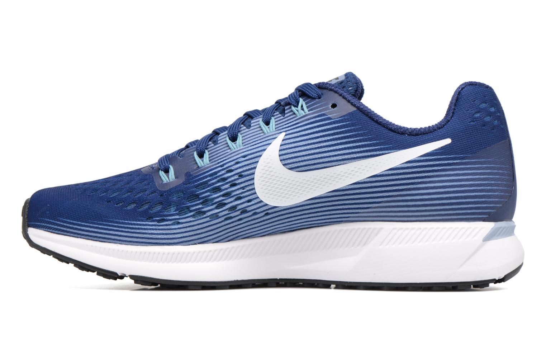 Wmns Nike Air Zoom Pegasus 34 Binary Blue/White-Glacier Grey-Cerulean