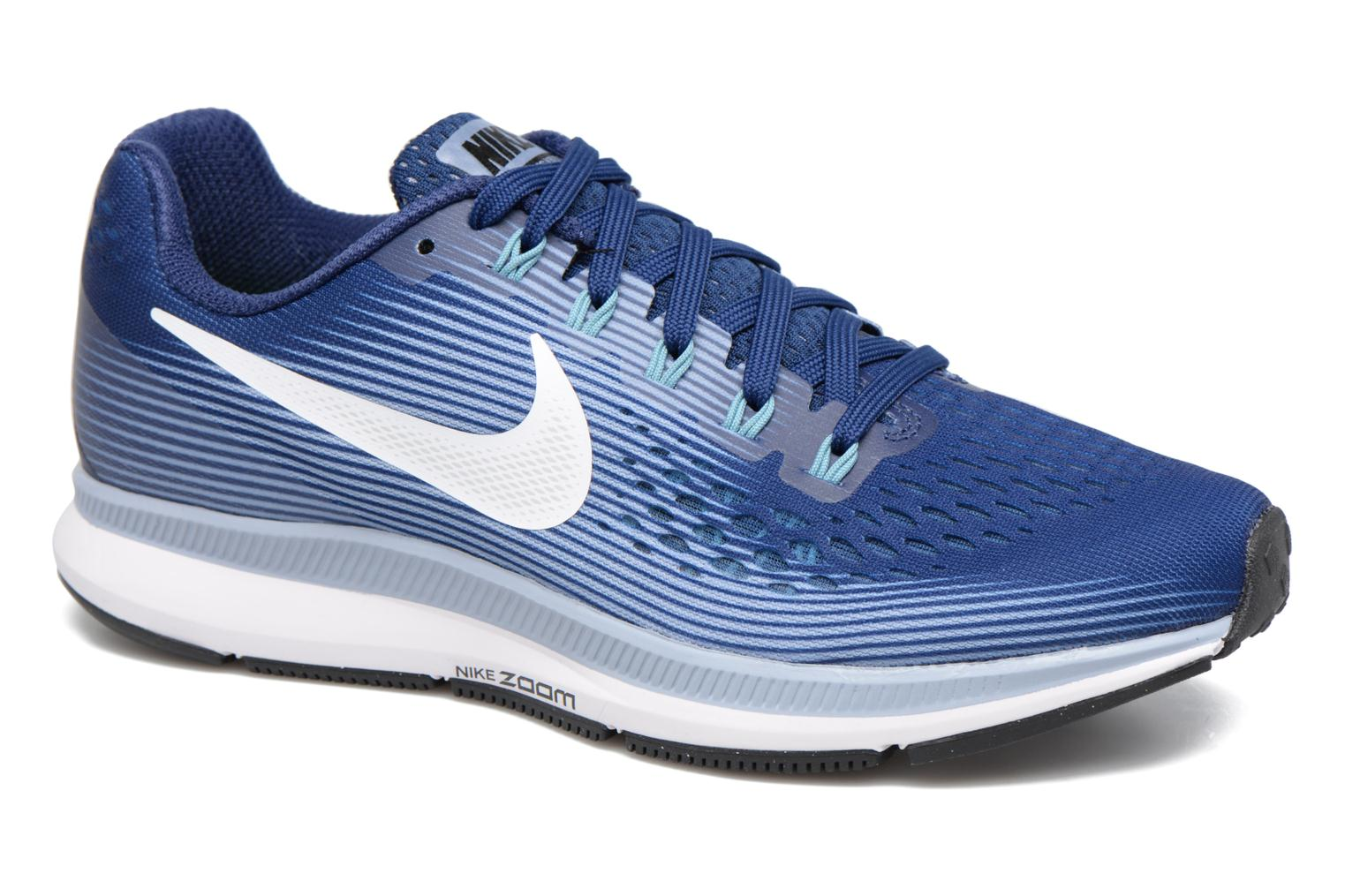 Wmns Nike Air Zoom Pegasus 34 Binary Blue/White-Glacier Grey-Cerulean