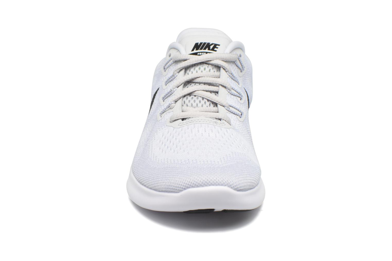 Chaussures de sport Nike Wmns Nike Free Rn 2017 Blanc vue portées chaussures