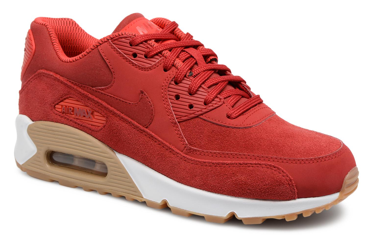 Baskets Nike Wmns Air Max 90 Se Rouge vue détail/paire