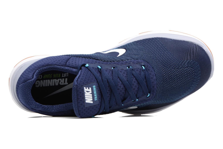 Sportschuhe Nike Nike Free Trainer V7 blau ansicht von links