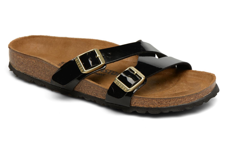 Sandales et nu-pieds Birkenstock Yao Balance Noir vue détail/paire