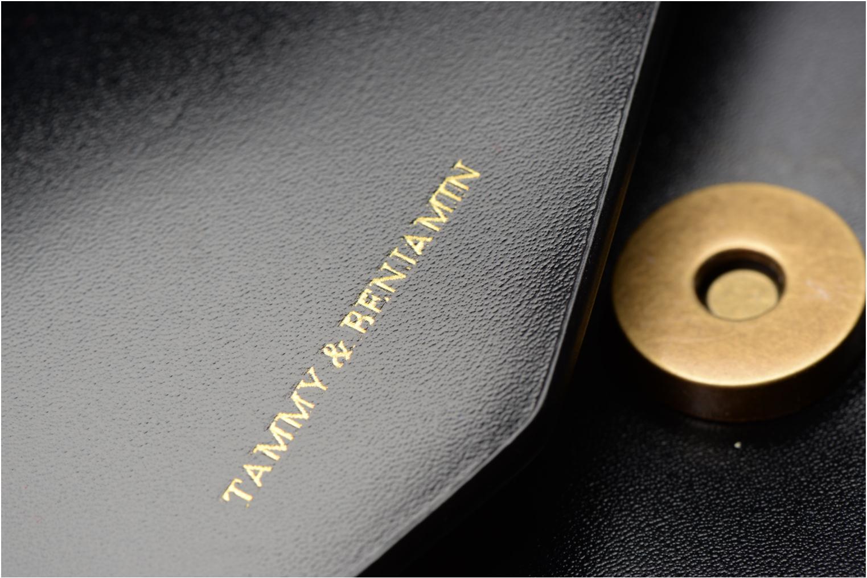 Clutch Tammy & Benjamin Pochette Chaine Ines Zwart links