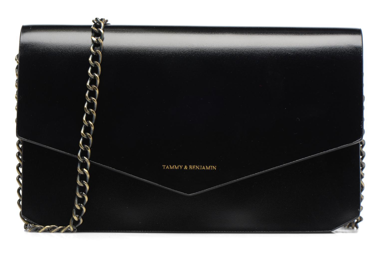 Clutch Tammy & Benjamin Pochette Chaine Ines Zwart detail