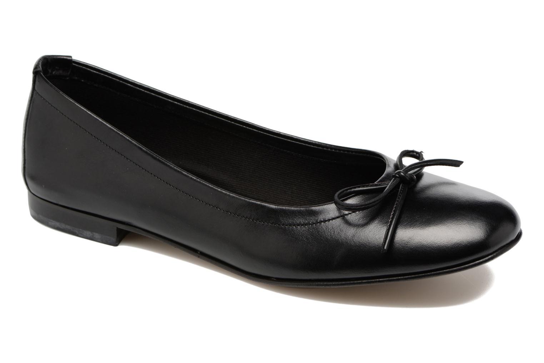 Ballerinaer Elizabeth Stuart Wilo 304 Sort detaljeret billede af skoene