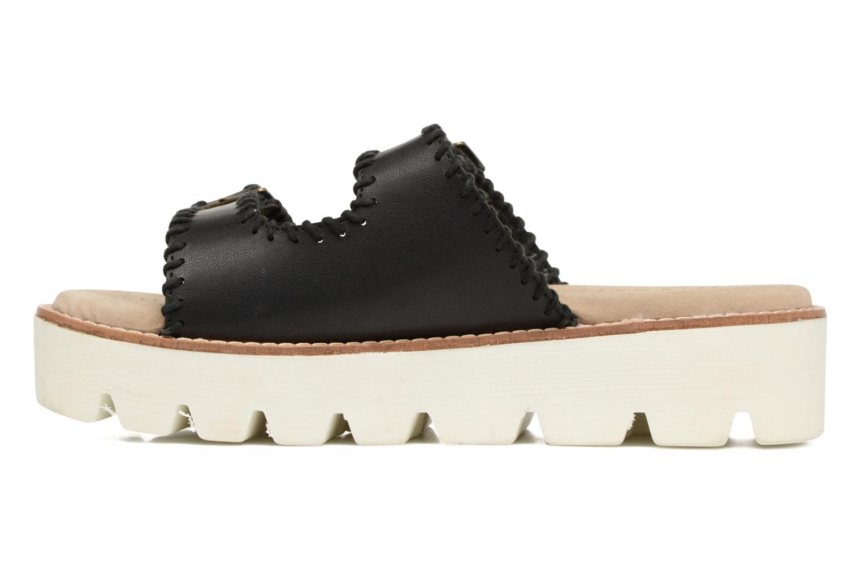 Sandales et nu-pieds Coolway Malva Noir vue face