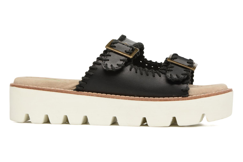 Sandales et nu-pieds Coolway Malva Noir vue derrière