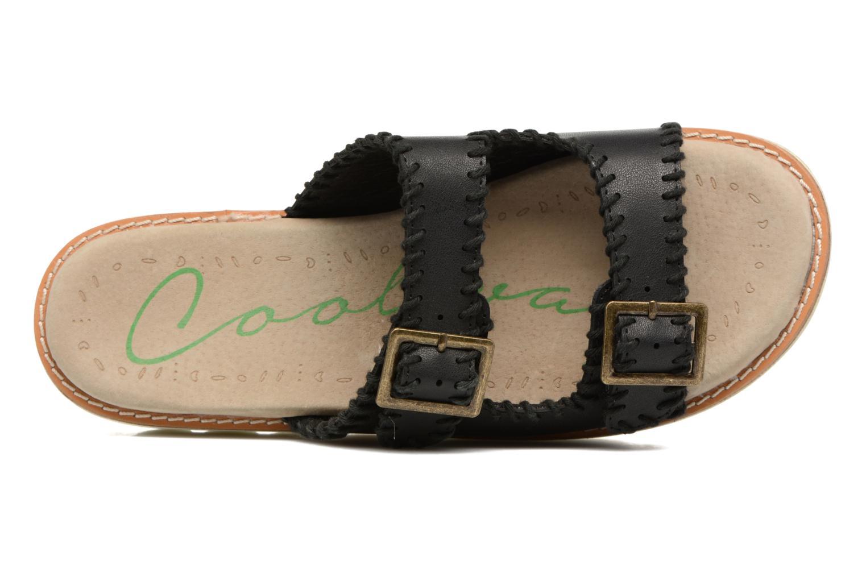Sandales et nu-pieds Coolway Malva Noir vue gauche
