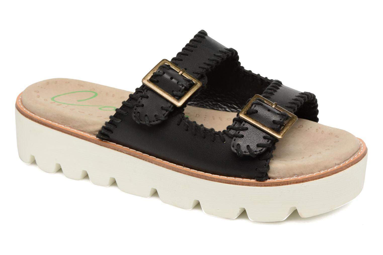 Sandales et nu-pieds Coolway Malva Noir vue détail/paire