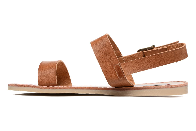 Sandales et nu-pieds Coolway Monda Marron vue face