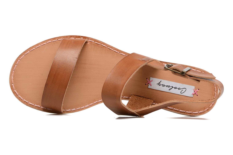 Sandales et nu-pieds Coolway Monda Marron vue gauche