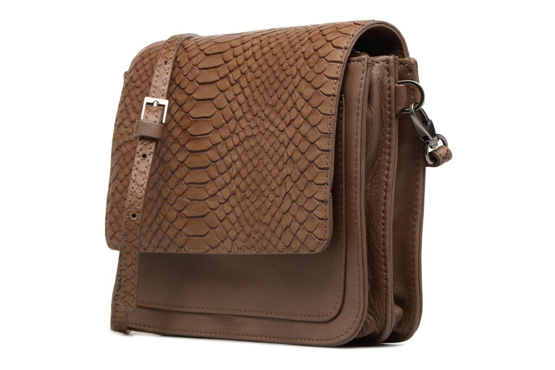Handbags Sabrina Cyriane croco Brown model view