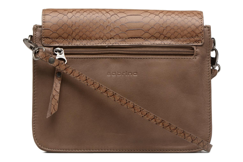 Handbags Sabrina Cyriane croco Brown front view