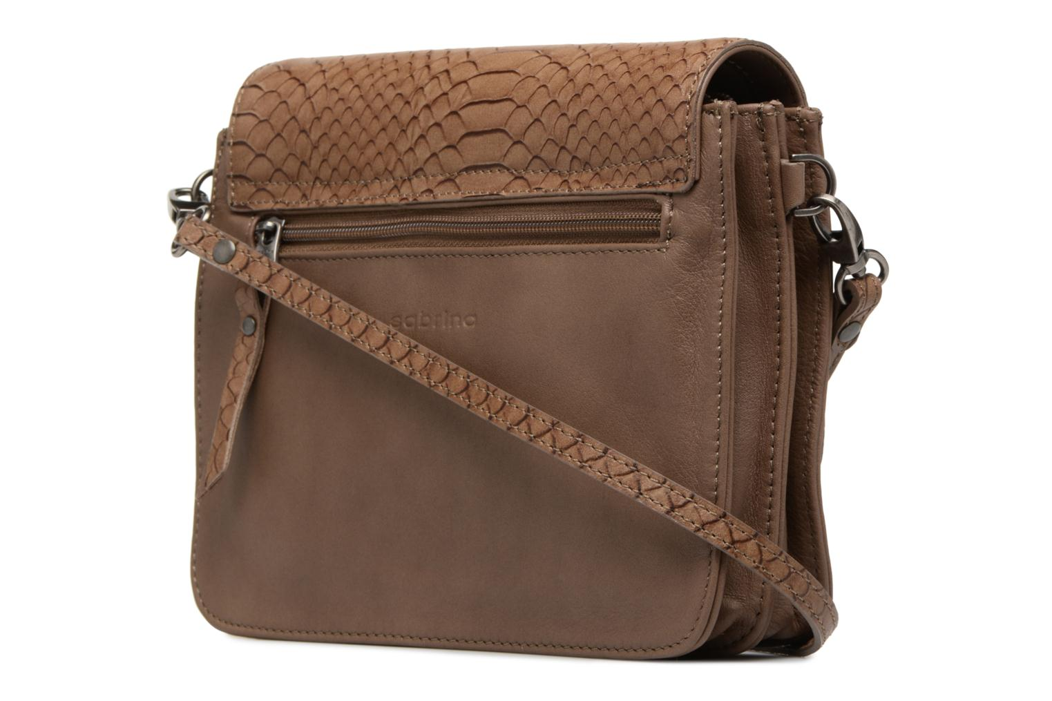 Handbags Sabrina Cyriane croco Brown view from the right