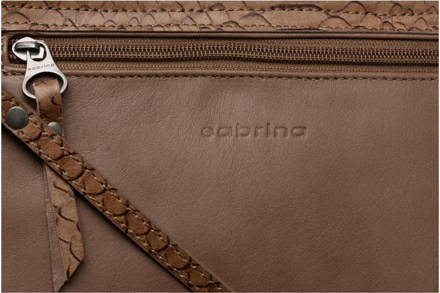 Handbags Sabrina Cyriane croco Brown view from the left
