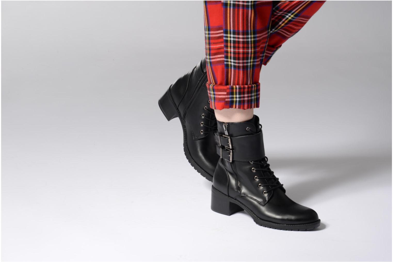 Bottines et boots Chattawak Marion Noir vue bas / vue portée sac