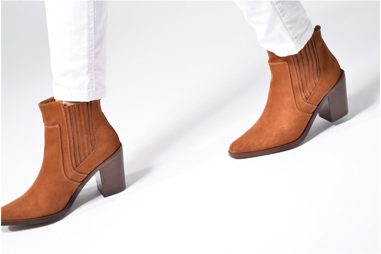 Bottines et boots Chattawak Laurence Marron vue bas / vue portée sac
