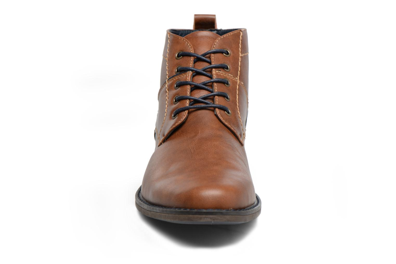Ankle boots I Love Shoes SIMEON Brown model view