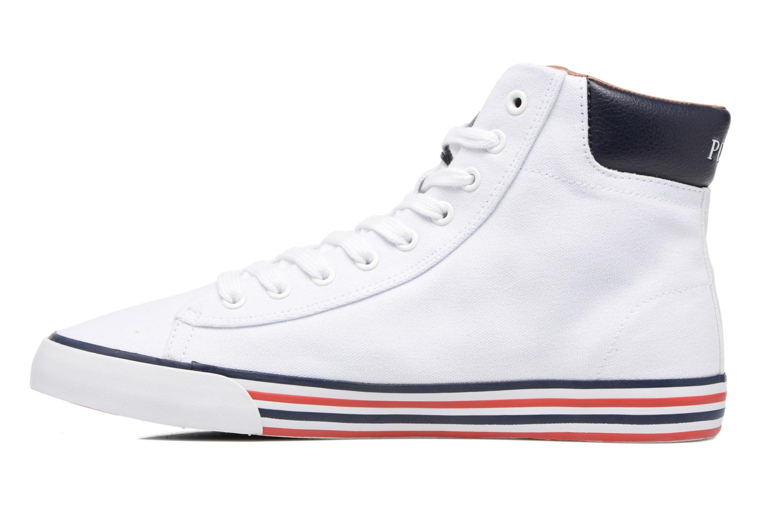 Baskets Polo Ralph Lauren Harvey Mid-Ne Blanc vue face