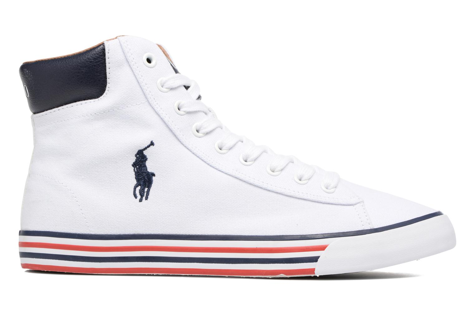 Baskets Polo Ralph Lauren Harvey Mid-Ne Blanc vue derrière