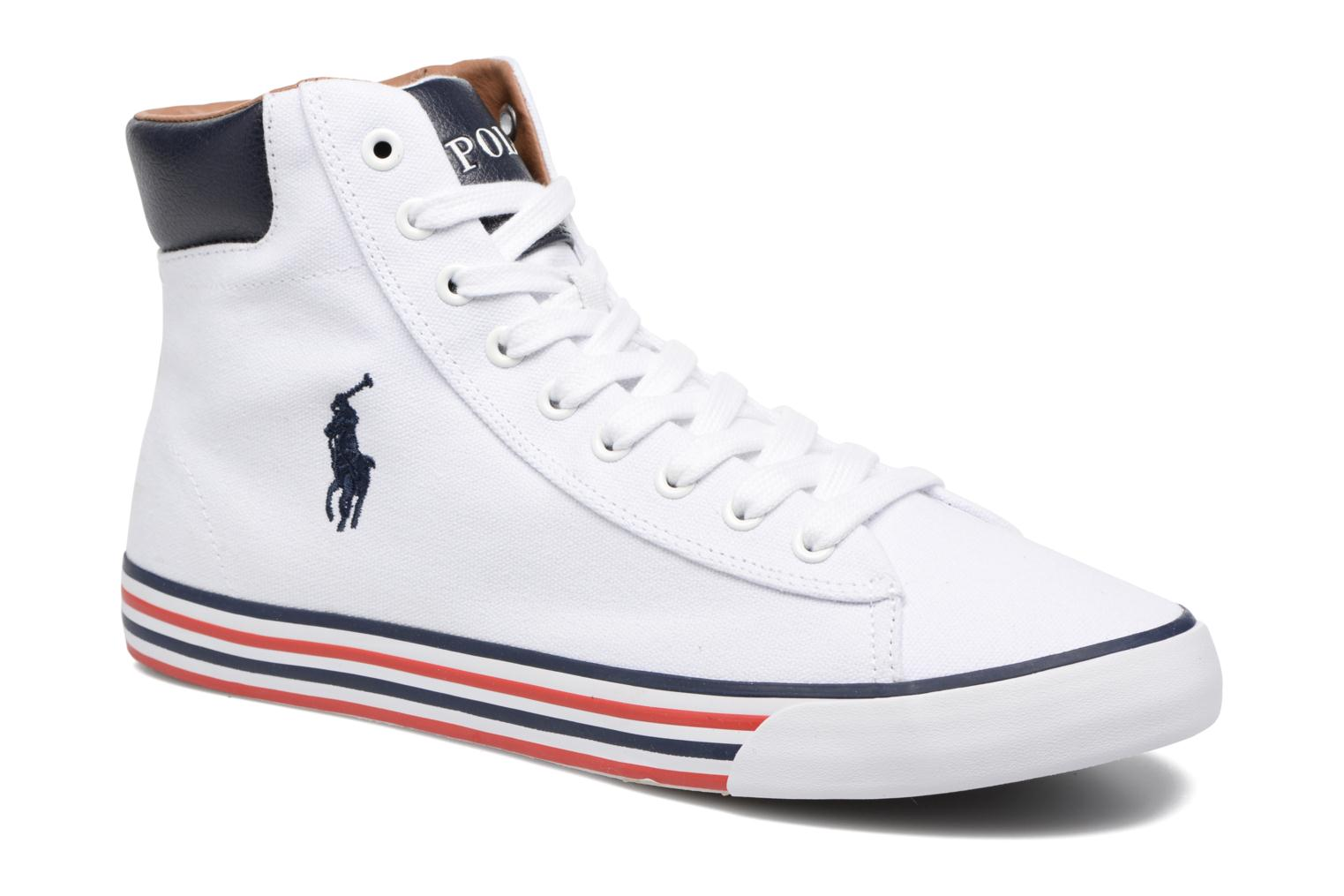 Baskets Polo Ralph Lauren Harvey Mid-Ne Blanc vue détail/paire