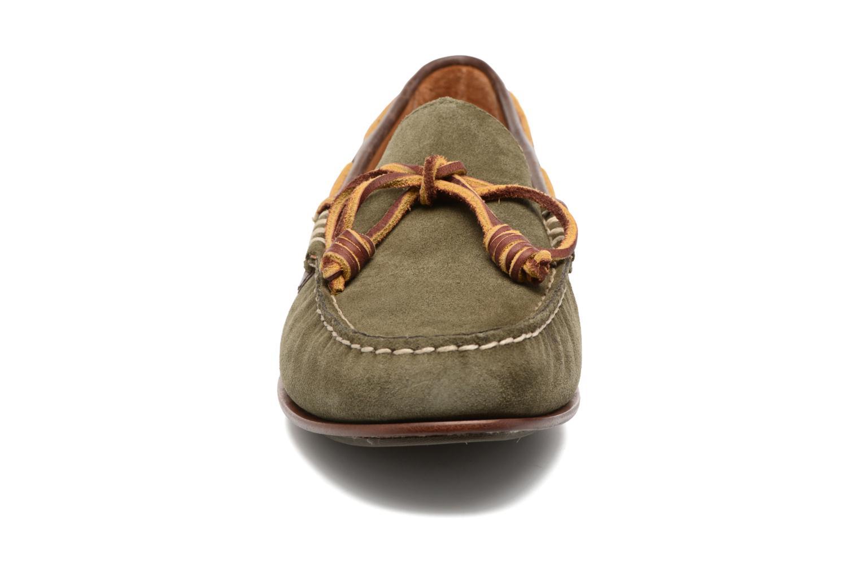 Mocasines Polo Ralph Lauren Davy Verde vista del modelo