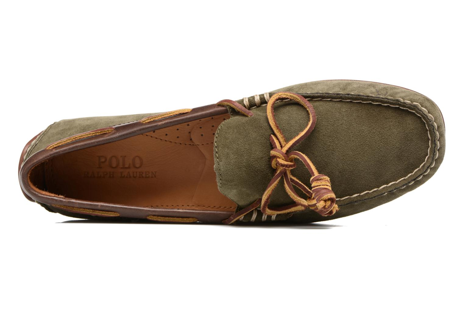 Loafers Polo Ralph Lauren Davy Green view from the left