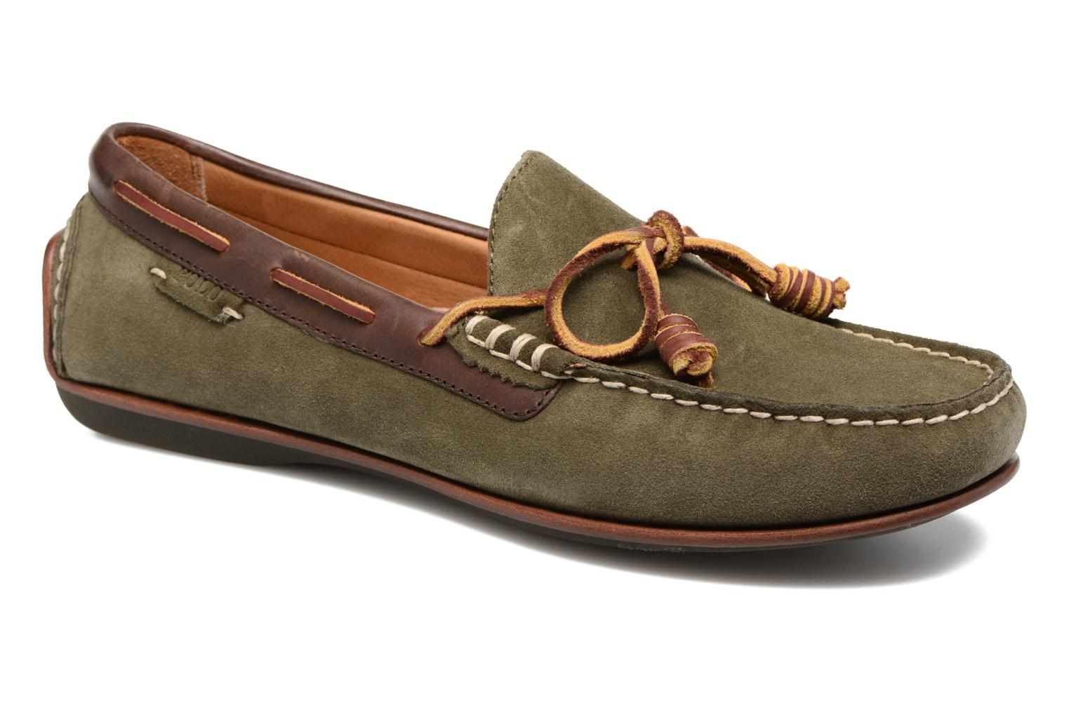 Loafers Polo Ralph Lauren Davy Green detailed view/ Pair view