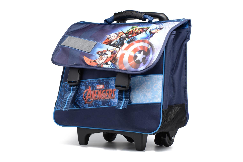 Scolaire Avengers Cartable 41cm Trolley Bleu vue portées chaussures