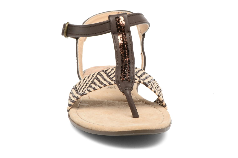 Sandales et nu-pieds MTNG Brush 53533 Marron vue portées chaussures