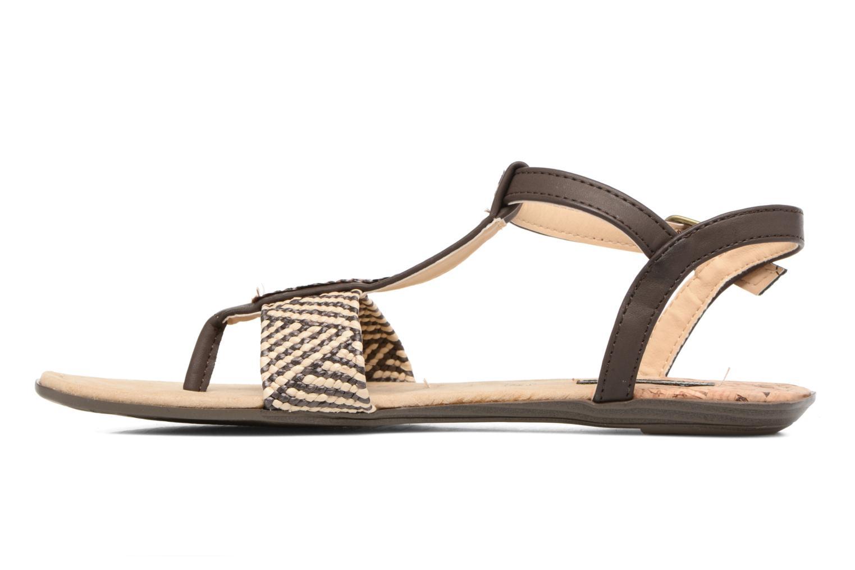 Sandales et nu-pieds MTNG Brush 53533 Marron vue face
