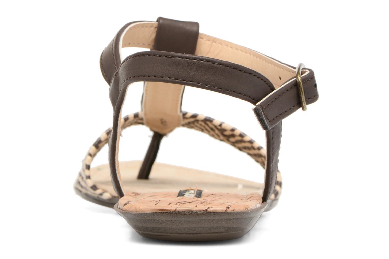 Sandales et nu-pieds MTNG Brush 53533 Marron vue droite