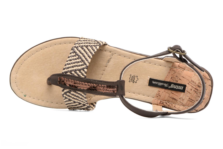 Sandales et nu-pieds MTNG Brush 53533 Marron vue gauche