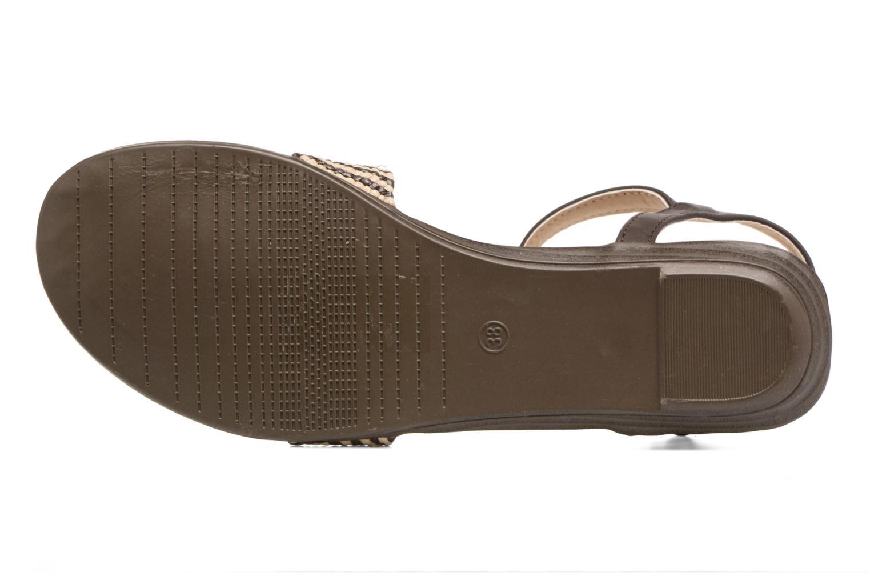Sandales et nu-pieds MTNG Brush 53533 Marron vue haut