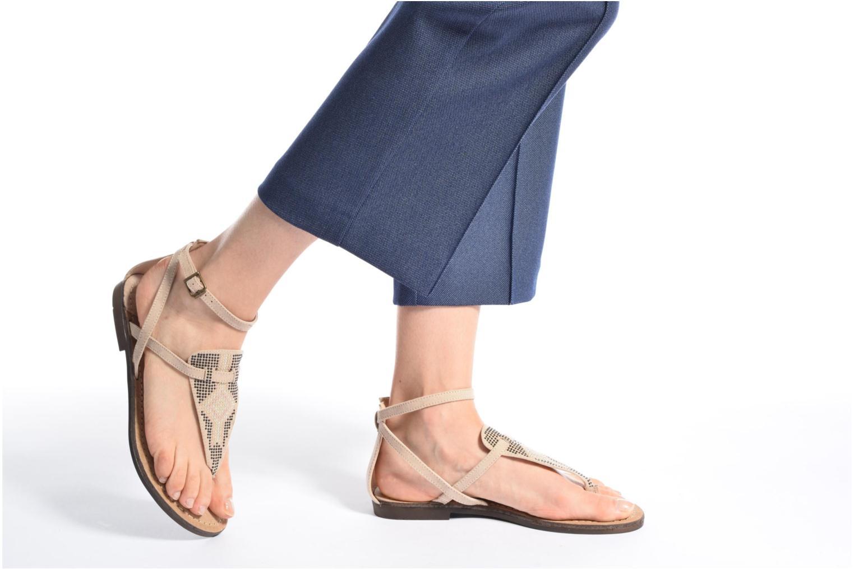 Sandales et nu-pieds MTNG Micra 53575 Beige vue bas / vue portée sac