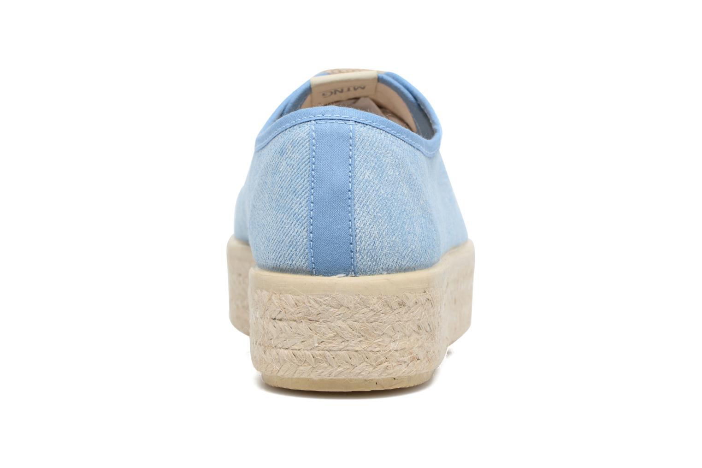 Baskets MTNG Tejano 69733 Bleu vue droite