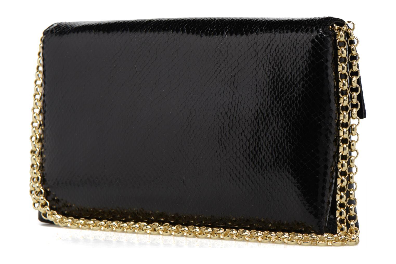 Pochette Chaine Vernis Envelope Clutch Tulip BLACK MULTI-BML
