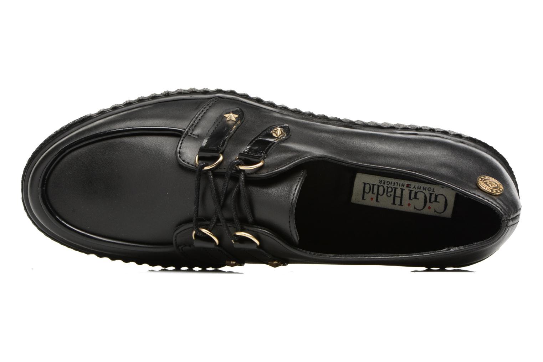 Schnürschuhe Tommy Hilfiger Gigi Hadid Creeper Shoe schwarz ansicht von links